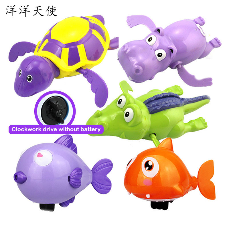 Baby Bath Beach Toys Clockwork Turtle Swiming Pool Kids Toys Infant Reborn Baby Dolls Baby Shower Games Water Toys For Children image