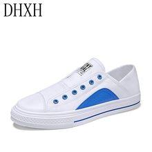 little white shoes 2020 new women s shoes korean version of the trend of wild breathable sports casual shoes spring and autumn Summer breathable white shoes male Korean version of the trend of wild canvas tide shoes one pedal lazy shoes casual board shoes