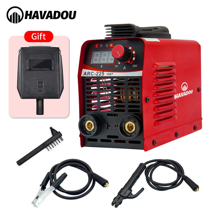 HAVADOU Potrtable DC Inverter Welding Machine 220V IGBT MMA Welder 225 Amp for ARC Welding Working Electric Working Power Tools