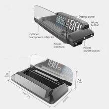 """2021 חדש GPS HUD הראש למעלה תצוגה מד מהירות קמ""""ש/KPM מראה אוטומטי אוניברסלי מהירות מקרן תואם משאית רכב עבור רכב"""