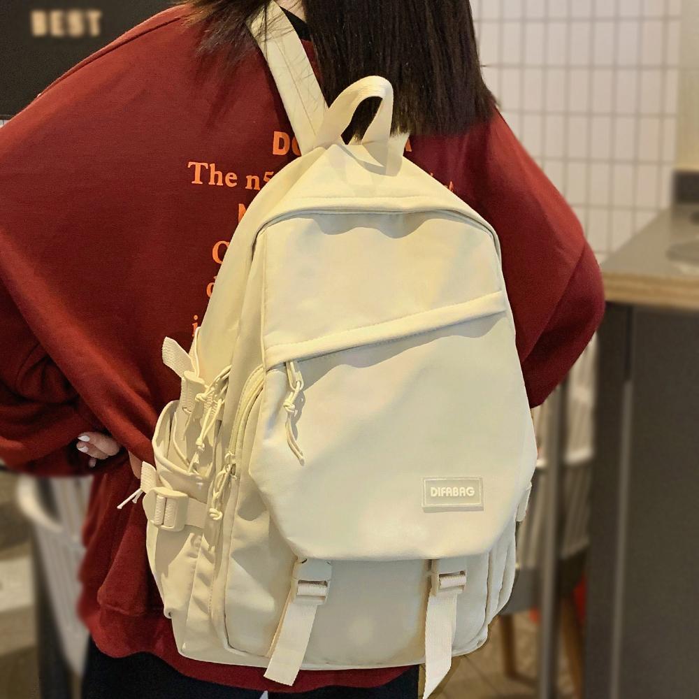 Cute Women Trendy Backpack Cool Nylon Female School Bag College Book Lady Laptop Backpack Kawaii Fashion Girl Student Bag Travel