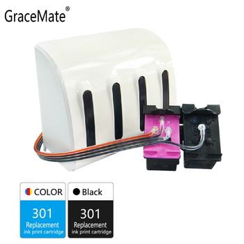 GraceMate 301 CISS Bulk Ink Compatible for HP 301 for Deskjet 1050 2050 2050s 3050 Envy 4500 4502 4504 5530 5532 5539 Printer цена 2017