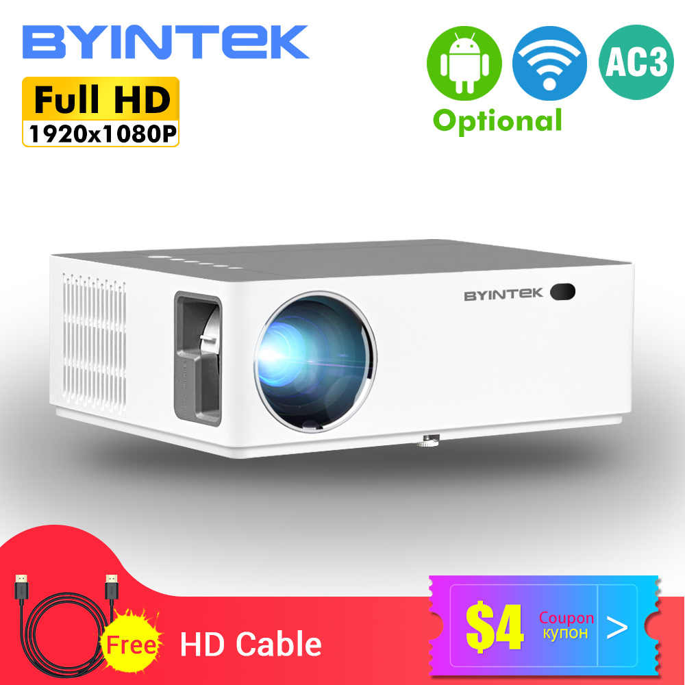 BYINTEK K20 Full HD 4K 3D 1920X1080P Android Wifi LED Video 300 Inci Home Theater Proyektor proyector Beamer untuk Smartphone