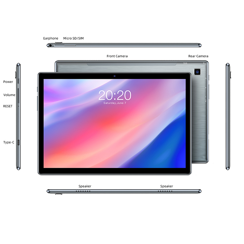 Teclast P20HD 10.1 Inch Tablet Android 10 1920x1200 Octa Core 4GB RAM 64GB ROM Dual 4G Phablet AI Speed-up Tablets PC Dual Wifi 6