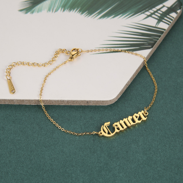 Skyrim Personalized Name Bracelet Women Girls Stainless Steel Chain Letter Customized Charm Bracelets Unique Custom Jewelry Gift 6