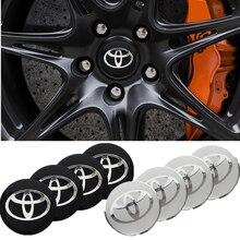 4 pçs centro da roda do carro cubo tampas emblema adesivos para toyota corolla yaris rav4 avensis auris camry c-hr 86 prius