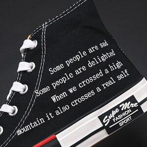 2020 frühling Mode Leinwand Schuhe Männer High Top Sneakers Schule Schuhe Jungen Casual Turnschuhe Mode Schuhe