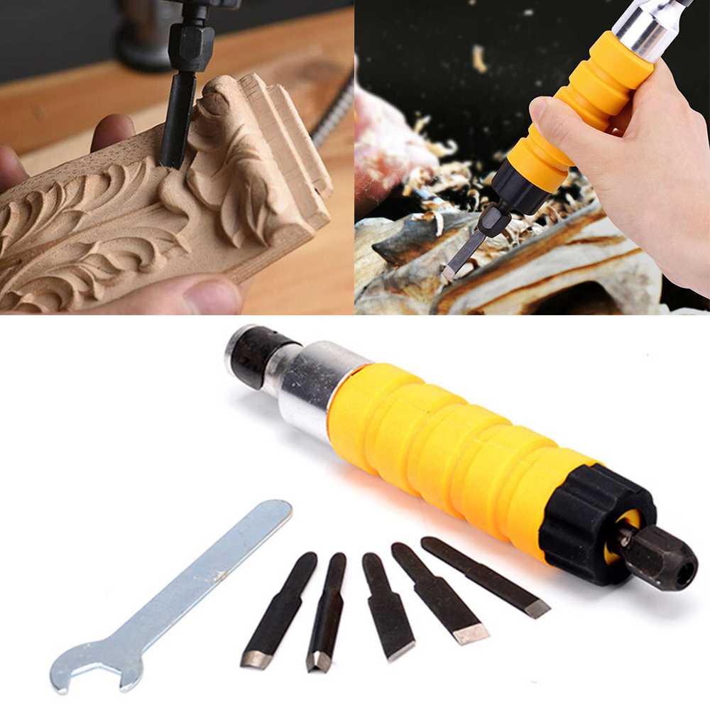 DIY Wood Chisel Carving Knives Wrench Flexible Shaft Tools Woodworking For Electric Drill Carving Tool For Wood Furniture