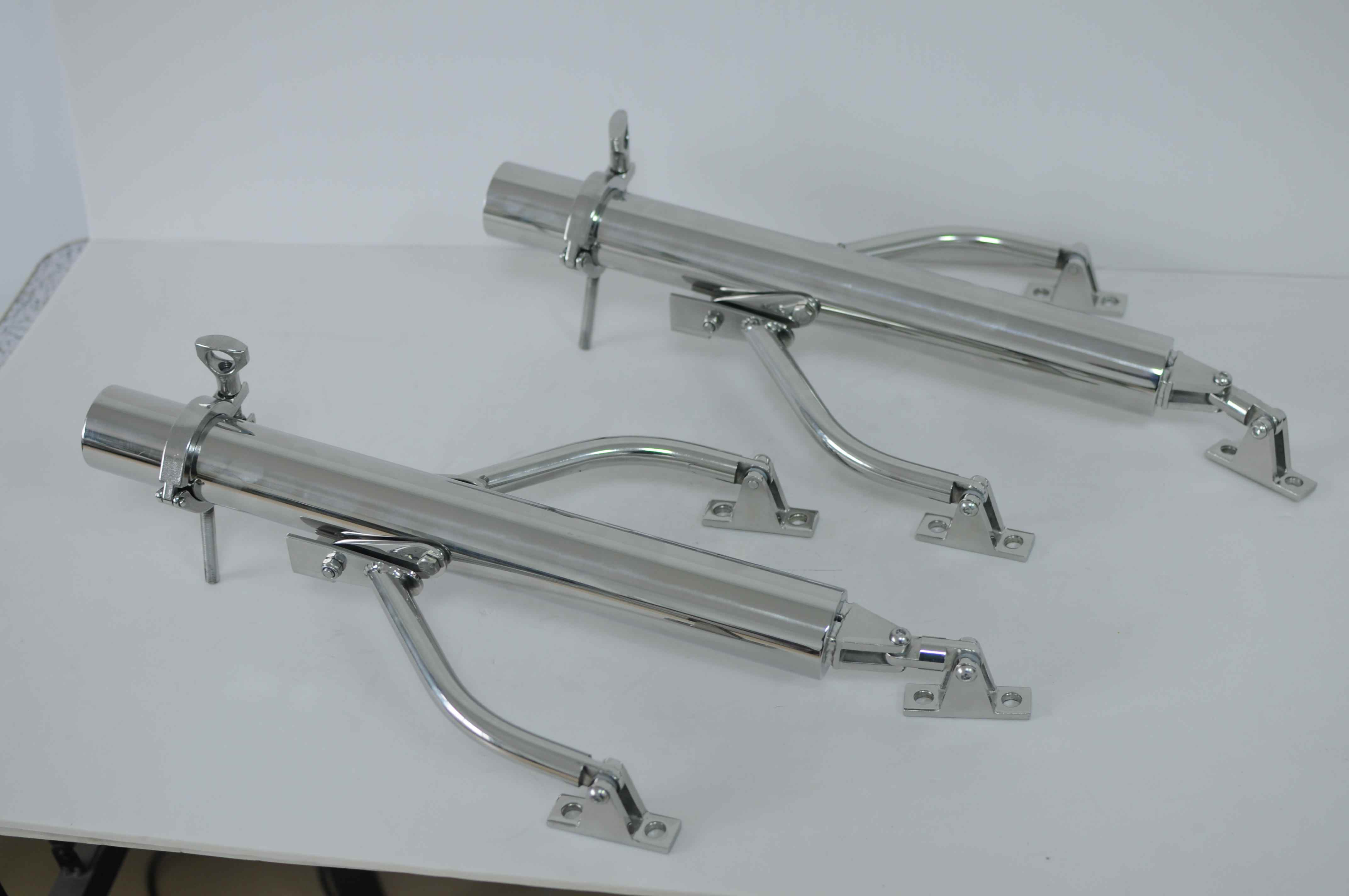 Pair Stainless Steel Outrigger Fishing Rod Holder for Boat Stand Bracket Mount