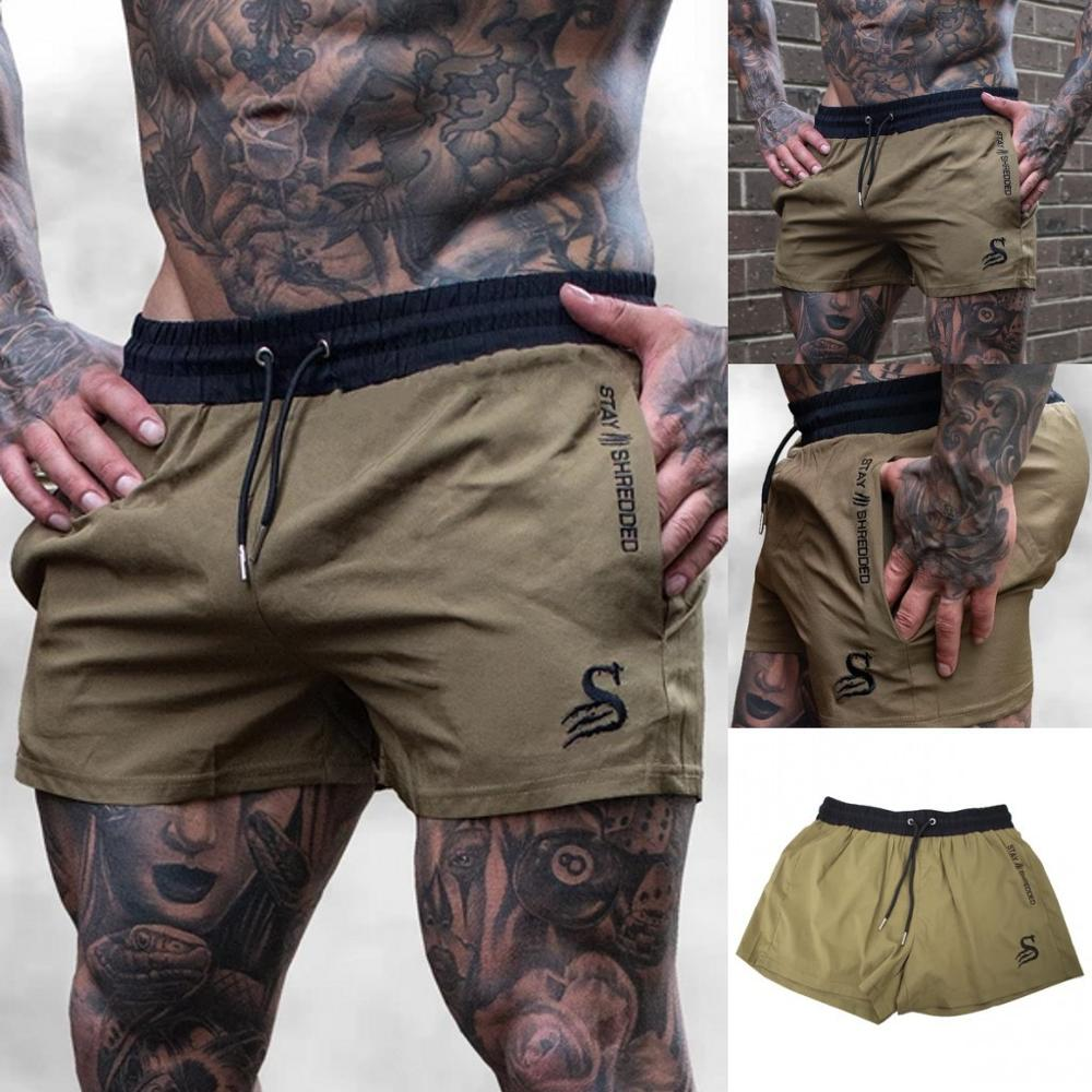 Spring and summer new men's casual shorts Summer gym exercise training breathable shorts Men's fitness