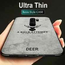 Rugged TPU Case For Xiaomi Mi Play CC9 E A2 A3 Lite 9/9T Pro Redmi 8A 8 7 7A Note 8 7 6 Pro Cloth Pattern Cover Elk Deer Shell