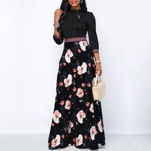 Женское длинное платье макси goocheer богемное стильное в этническом