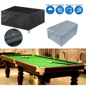 Dustproof Waterproof 7 8 9 Foot Outdoor Full Pool Solid With Drawstring Billiard Table Dust Cover Table Protector 210D Oxford
