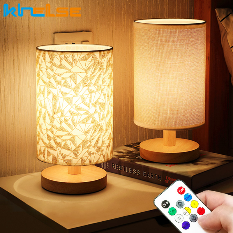 Stepless Dimmable Bedside Lamp LED Lights Decoration Table Lamp For Bedroom Home Deco Bedside Bed Lamp Shade Night Light