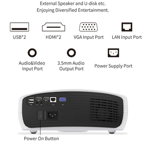 Image 4 - Smartldea Build in Android 9.0 2G + 32G Wifi Projector native 1920x1080P Full HD video game Proyector LED 3D Home cinema Beamer