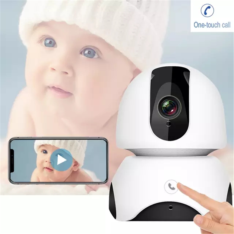 Wireless Baby Monitor 2MP FHD Baby Sleep Monitor Nanny IP Camera Auto Tracking One-touch Call Two Way Audio Intercom Baby Phone