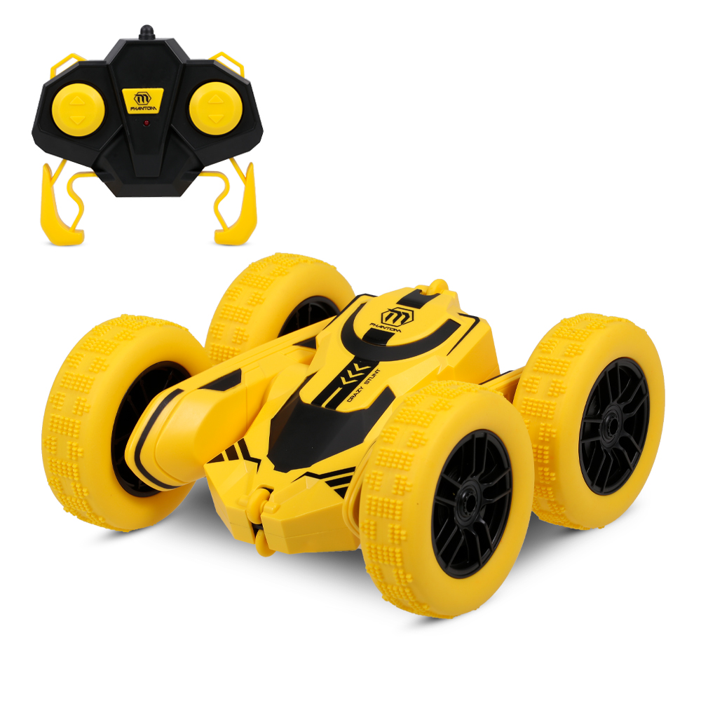 With 1pc Battery Chargeable 1:28 RC Stunt Car RC Car Tumbling 360 Degree Flips Double Sided Rotating Tumbling  Toys For Children