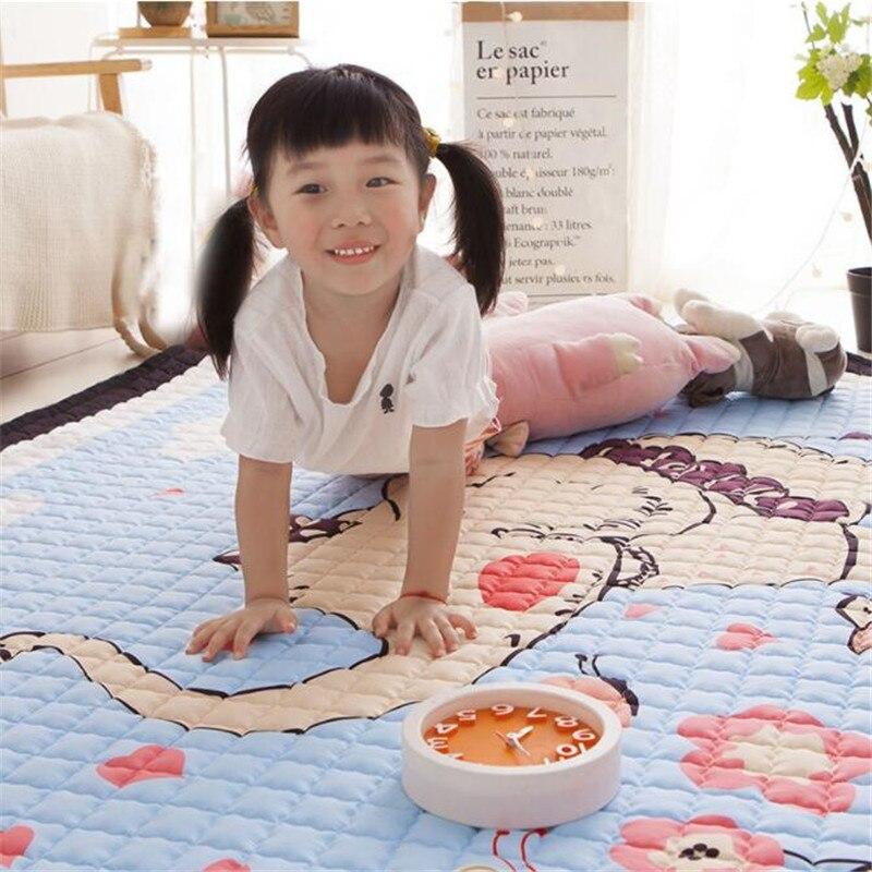 Tapis de jeu pour bébé tapis pour enfants tapis de ramper en coton tapis lavable antidérapant tapis de développement tapis souple pour enfant en bas âge jouets de couverture de jeu - 3