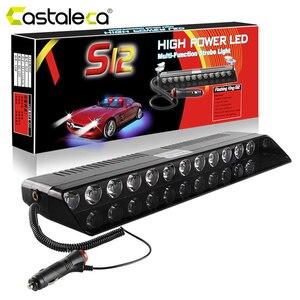 Cascaleca 1X12LED стробоскоп свет полиции Предупреждение льные лампочки сигнальные лампочки прикуривателя разъем для 12 В автомобиля