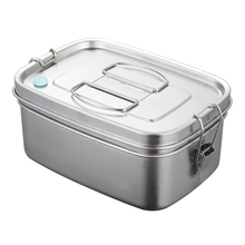 Large Capacity School Office Lunch Box Bento Dinnerware 2 Layers For Kids Adults Sandwich Food Container Stainless Steel Kitchen