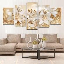 5 шт украшение для дома холст картина яркий цветок лилия Одуванчик