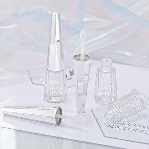 Image 2 - Wholesale Lipgloss Containers Hexagon Lipstick Balm Tubes Turriform Lip Glaze Labial glair Makeup Packing Bottle 10/30/50pcs