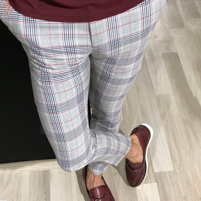 WENYUJH Fashion Mens Slim Fit Trousers Check Casual Pants Joggers Tartan Jogging Skinny Bottoms New Plus Size 2020 Men Trousers