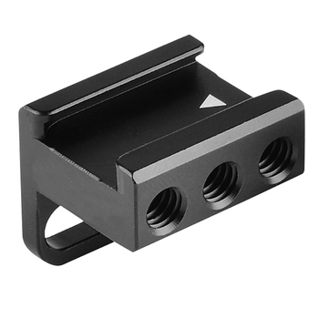 Aluminum Alloy Cold Shoe Mount Adapter for Camera Cage Microphone / Flash / Led Light / Monitor