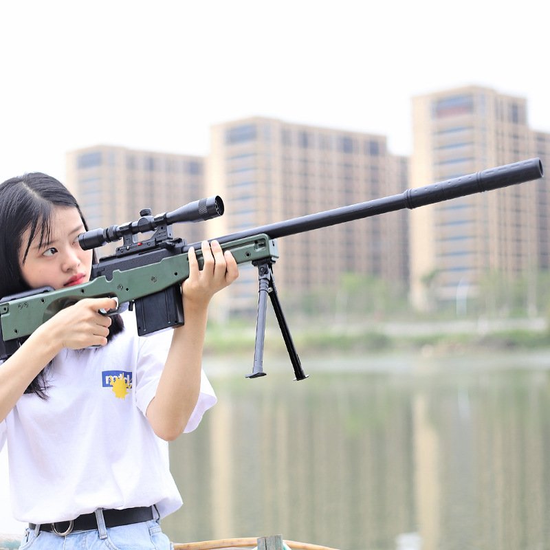 Kai Chan Manual Single For The Bomb Under AWM Sniper Water Gun Jedi Survival Model Children Boy Toy Gun