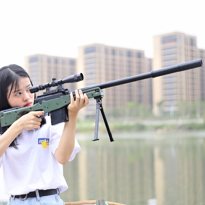 Kai Chan Manual Single For The Bomb Under AWM Sniper Water Gun Jedi Survival Model Children Boy Toy Gun