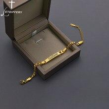 Letdiffery spersonalizowane Hollow serce bransoletki dla miłośników ze stali nierdzewnej wygrawerować nazwa data numer niestandardowe kobiety mężczyźni biżuteria prezent