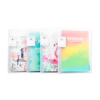 A4/B5/A5 colored index page notebook transparent cover diary planner paper loose-leaf book for student category pages stationery ezone 4 sheets a5 a6 6 holes pp colored notebook s index page matte loose leaf book category page office planner stationery gift