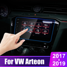 9.2inch For VW Arteon 2017 2018 2019 9H Tempered Glass Car GPS Navigation Screen Protector Display Film LCD Protective Sticker car tempered glass screen protective film sticker gps multimedia lcd guard for vw volkswagen 2017 2018 tiguan mk2 accessories