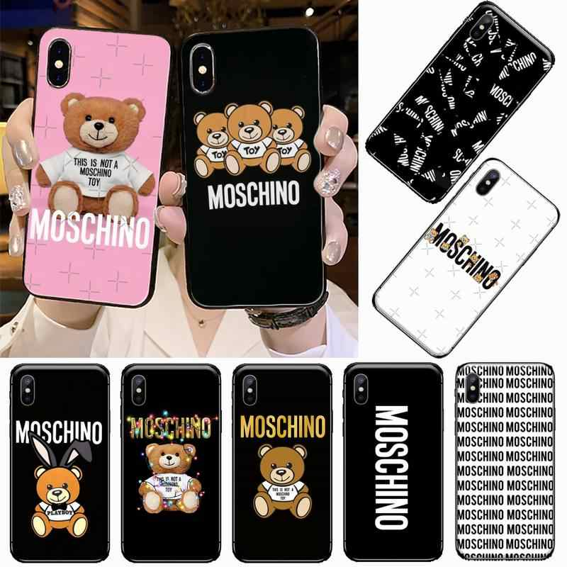 cover iphone 5c moschino silicone