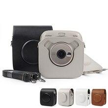 Do ochrony aparatu pokrowiec na aparat FUJIFILM Instax SQUARE SQ20 SQ10 pokrowiec na aparat PU skórzany pasek na ramię Vintage
