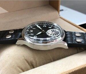 Image 4 - 44mm kein logo Schwarz zifferblatt turbine zweite hand Asiatischen 6498 Mechanische bewegung herren uhr GR16 20