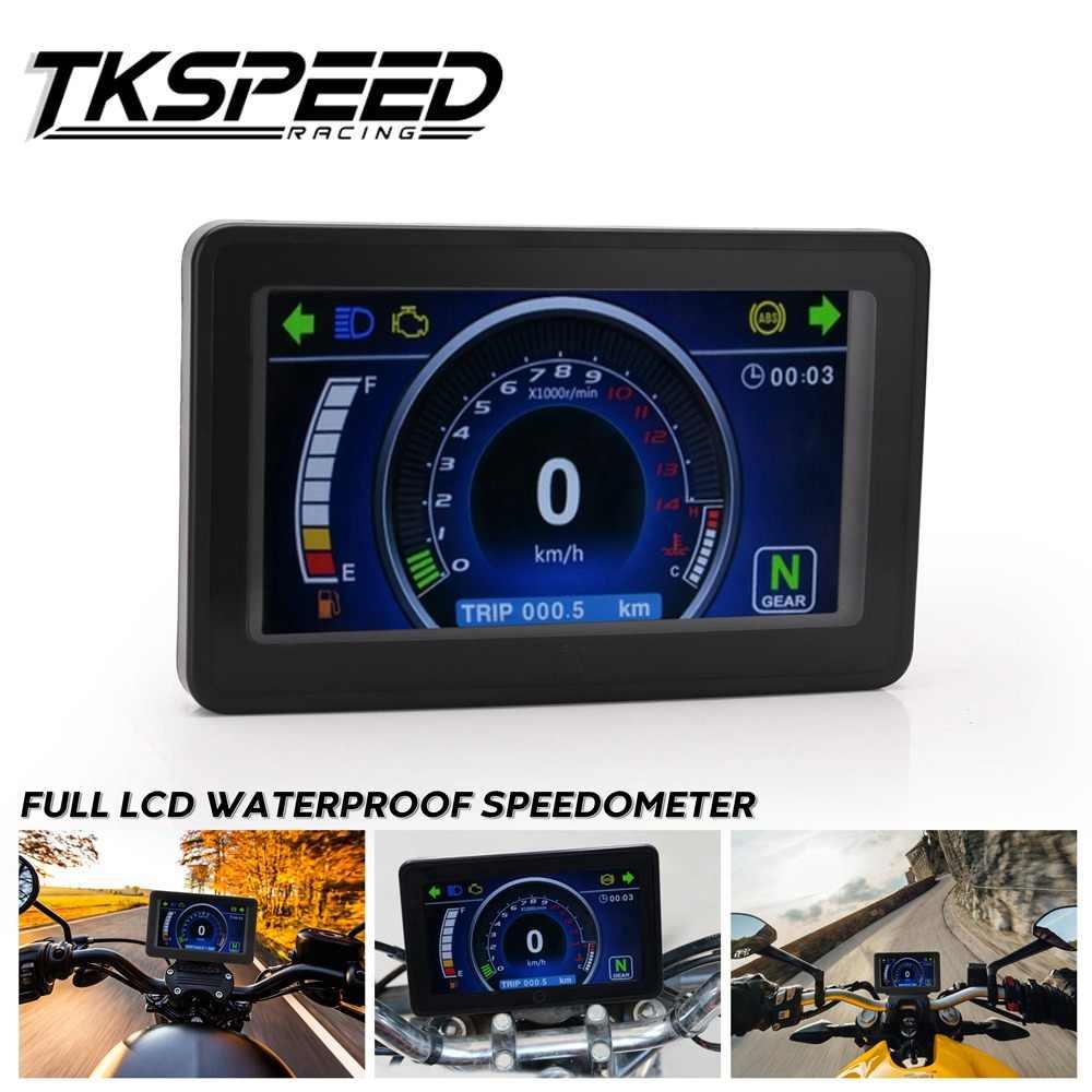 ユニバーサルオートバイ 1,2 、 4 シリンダー Lcd ディスプレイ多機能計器クラスタ交換可能なスピードメーター表示器