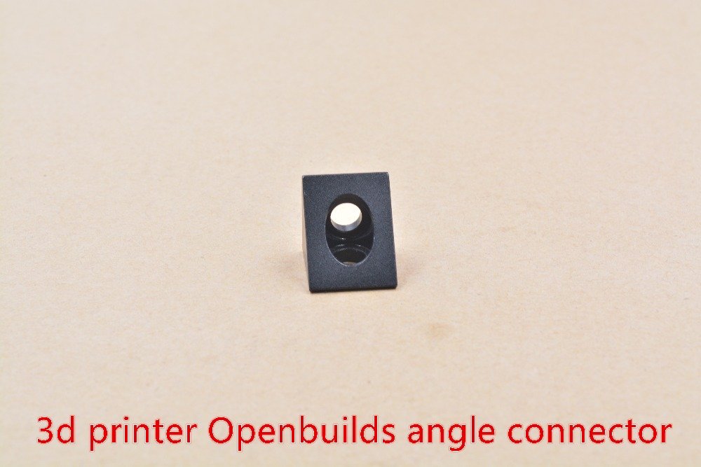 3D Printer Parts Openbuilds Fittings Black Angle Angle Connector Triangular Aluminum Piece Blast Oxidation