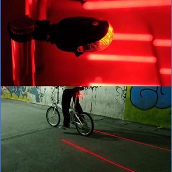 Rowerowa jazda na rowerze światła tylne laser led ostrzeżenie o bezpieczeństwie wodoodporna światła rowerowe Cool rowerów ogon akcesoria rowerowe światła tanie i dobre opinie Aubtec taillight Rama Baterii