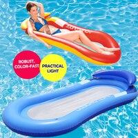 Aufblasbare Schwimm Reihe Stuhl Lounge Pool Schwimmt Strand Einzel Air Matratze für Schwimmen Wasser Sport Schwimm Schlafen Bett Stuhl