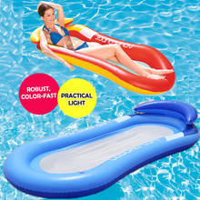 Inflatable Floating Row Chair Lounge Pool Floats Beach Single Air Mattress for Swimming Water Sports Floating Sleeping Bed Chair