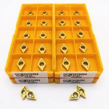 Drehmaschine werkzeug DCMT070204 UE6020 hohe präzision fräsen metall drehen tool DCMT 070204 allgemeine drehmaschine werkzeug CNC teile hartmetall toolDCMT