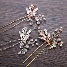 Hair-Pins-Sticks Hair-Accessories Rhinestone Bride Women