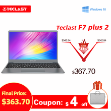 Teclast F7 Plus 2 Laptop 14.1 Inch Notebook Windows 10 1920 x 1080 Intel Gemini Lake N4120 Quad Core 1.1 GHz 8 GB RAM 256 GB SSD