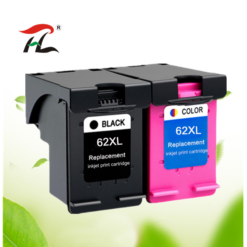 2PK Compatible For 62XL Ink Cartridge For Hp62 62 5640 5660 7640 5540 5544 5545 5546 5548 Officejet 5740 5741 5742 5743 5744