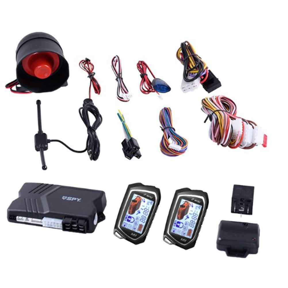 2 Way Car Alarm System with 1.73 inch Big LCD Pager Display Remote ...