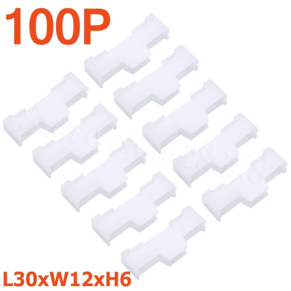 100pcs Nylon Servo Extension Lead Lock L30xW12xH6mm RC Parts