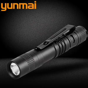 XP-G Q5 LED Flashlight Torch Lanternas switch single mode on / off zoomable AAA battery Portable Lights for camping