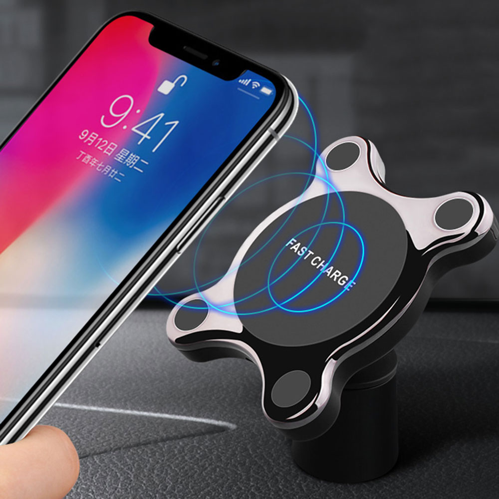 Car Wireless Charger Magnet Car Vent Phone Holder Qi Wireless Fast Car Charger For IPhone XR XS Samsung S9 S8 Note 9|Chargers| |  - title=