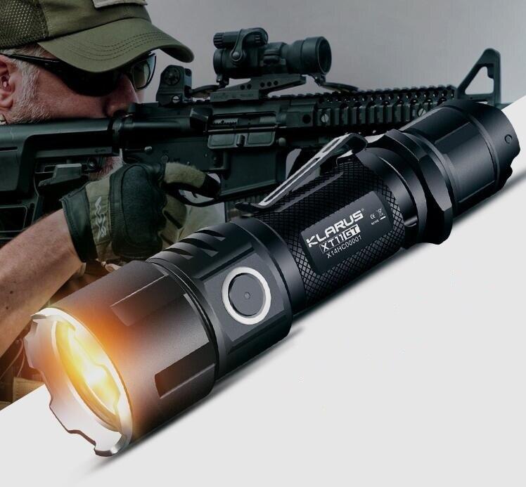 Nouveau KLARUS XT11GT CREE XHP35 LED 2000 Lm 4 Mode tactique lampe de poche LED + Port USB gratuit et 18650 Battey pour l'auto défense - 6